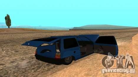 ВАЗ Ока 1111 для GTA San Andreas вид снизу