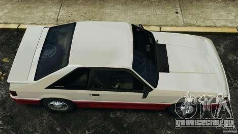 Ford Mustang GT 1993 v1.1 для GTA 4 вид справа