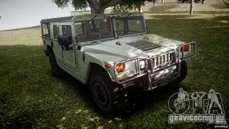 Hummer H1 Original для GTA 4 вид изнутри
