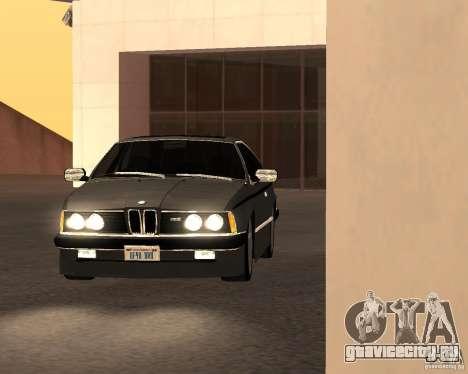 BMW M6 E24 для GTA San Andreas вид сзади
