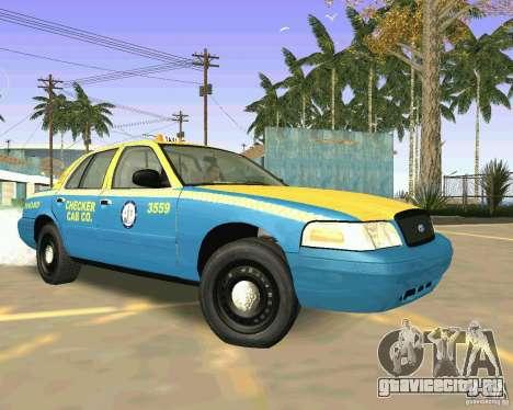 Ford Crown Victoria 2003 Taxi Cab для GTA San Andreas