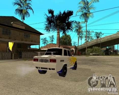 ЗАЗ 968м тюнингованый для GTA San Andreas вид сзади слева