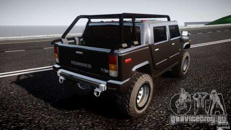 Hummer H2 4x4 OffRoad v.2.0 для GTA 4 вид сбоку