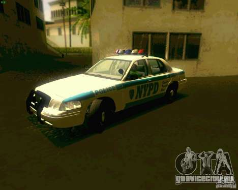 Ford Crown Victoria 2003 NYPD police для GTA San Andreas вид слева