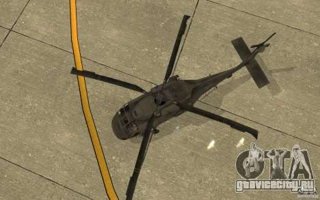 UH-80 для GTA San Andreas вид изнутри