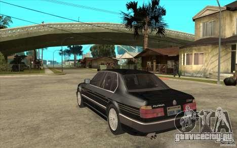 BMW E32 7-er Alpina B12 для GTA San Andreas вид справа