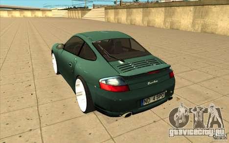 Porsche 911 Turbo для GTA San Andreas вид сзади слева