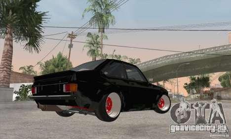 Ford Escort Mk2 для GTA San Andreas вид сзади