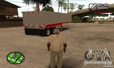 Полуприцеп Artict3 Dump для GTA San Andreas вид сзади