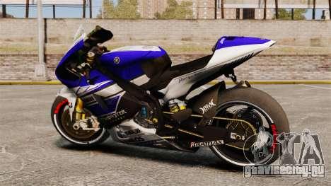 Yamaha YZR-M1 для GTA 4 вид слева