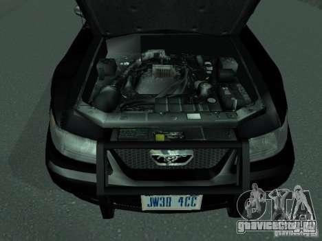 Ford Mustang GT Police для GTA San Andreas вид справа