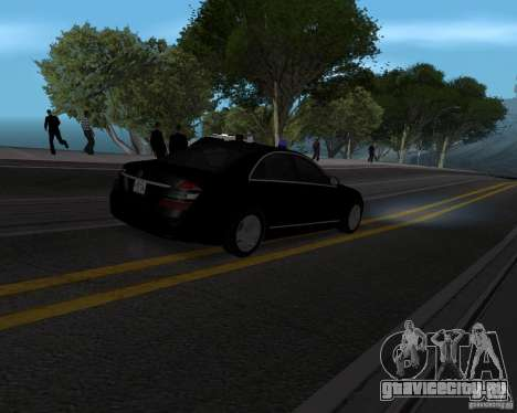 Mercedes Benz S500 w221 SE для GTA San Andreas вид слева