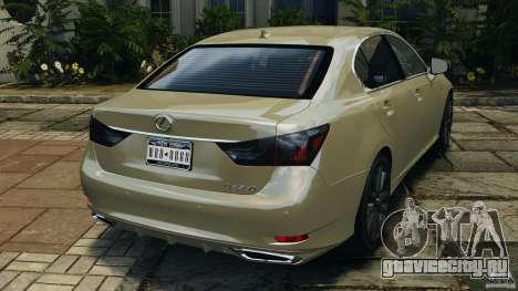 Lexus GS350 2013 v1.0 для GTA 4 вид сзади слева