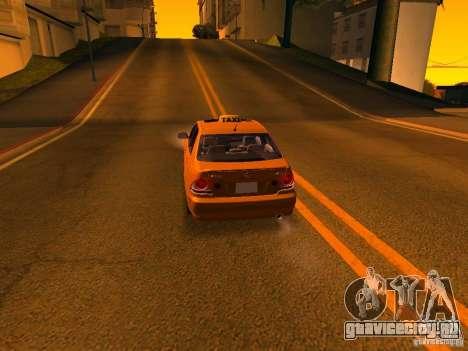 Lexus IS300 Taxi для GTA San Andreas вид снизу
