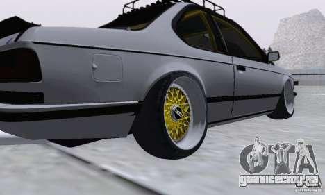 BMW M635CSi Stanced для GTA San Andreas вид сзади слева