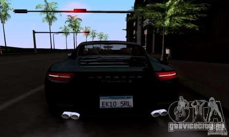 Porsche 911 Carrera S для GTA San Andreas вид сверху