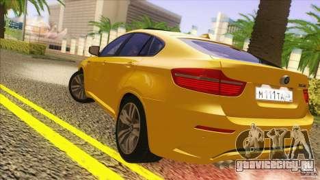 BMW X6M E71 v2 для GTA San Andreas вид справа
