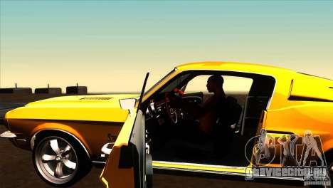 Shelby GT500KR для GTA San Andreas вид изнутри