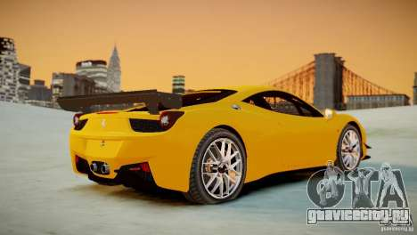 Ferrari 458 Challenge 2011 для GTA 4 вид сзади