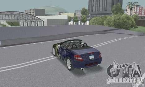 Mercedes-Benz SLK 350 для GTA San Andreas вид снизу