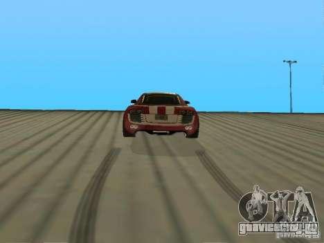 Audi R8 Le Mans NFS Carbon v2.0 для GTA San Andreas вид сзади слева