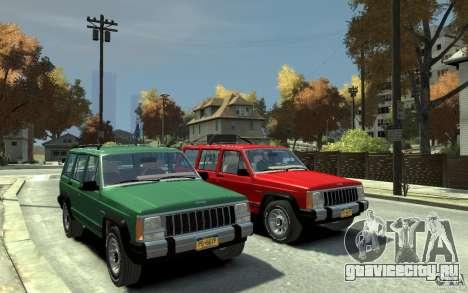 Jeep Cherokee 1984 для GTA 4 вид сзади