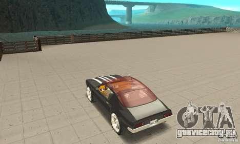 Pontiac Flamingo для GTA San Andreas вид сзади слева