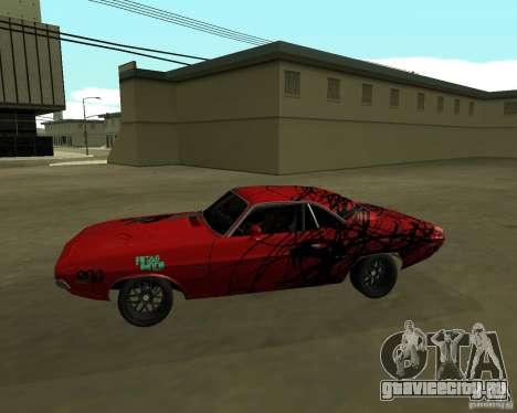 Dodge Challenger 1971 TeamGo для GTA San Andreas вид слева