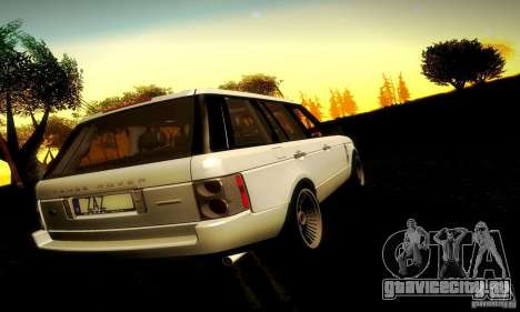 Range Rover Supercharged для GTA San Andreas вид изнутри