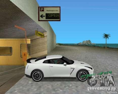 Nissan GT R35 Vspec для GTA Vice City вид сзади слева
