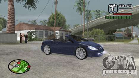 Peugeot 307 BMS Edition для GTA San Andreas вид слева