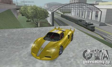 Ferrari FXX для GTA San Andreas вид изнутри