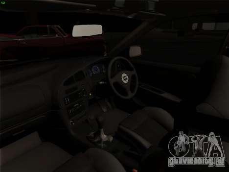 Mitsubishi Lancer Evolution VI для GTA San Andreas вид снизу