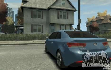 Kia Forte Koup SX для GTA 4 вид сзади слева