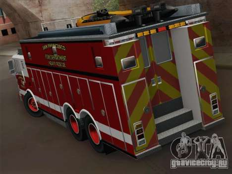 Pierce Walk-in SFFD Heavy Rescue для GTA San Andreas вид справа