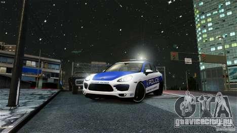 Porsche Cayenne Cop для GTA 4 вид сзади слева