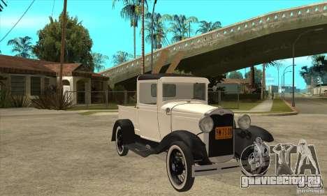 Ford Model A Pickup 1930 для GTA San Andreas вид сзади
