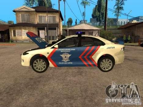 Mazda 6 Police Indonesia для GTA San Andreas вид сзади