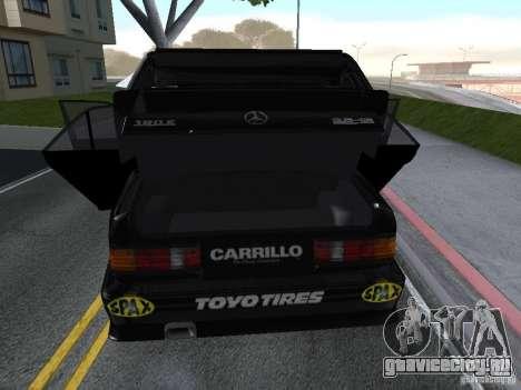 Mercedes-Benz 190E Racing Kit1 для GTA San Andreas вид сзади