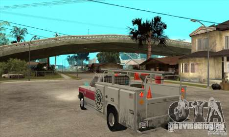 Chevrolet Silverado - utility для GTA San Andreas вид сзади слева
