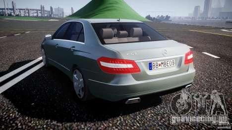 Mercedes-Benz E63 2010 AMG v.1.0 для GTA 4 вид сзади слева