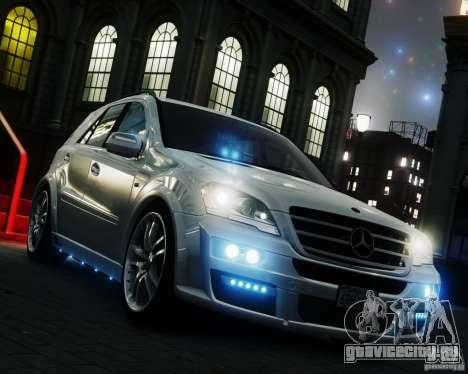 Mercedes-Benz ML Brabus 2009 для GTA 4 вид справа