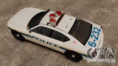 Полицейский Buffalo ELS для GTA 4 вид справа