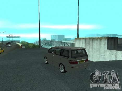Toyota Alphard G Premium Taxi indonesia для GTA San Andreas вид слева