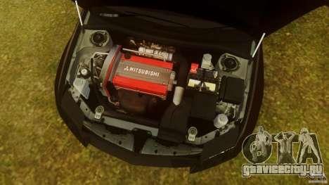 Mitsubishi Lancer Evo 2004 для GTA 4 вид изнутри