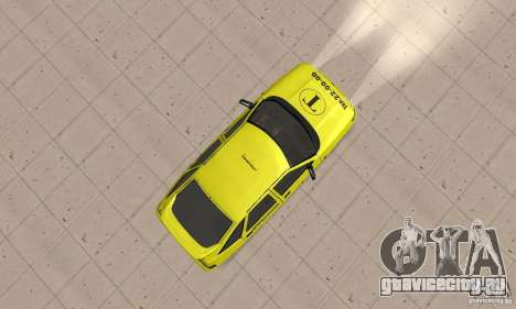 ВАЗ 21124 ТАКСИ для GTA San Andreas вид справа