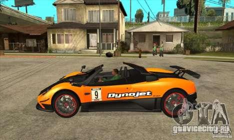 Pagani Zonda Cinque Roadster для GTA San Andreas вид слева