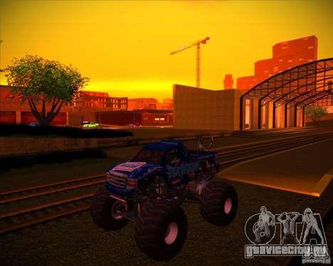 Monster Truck Blue Thunder для GTA San Andreas вид снизу