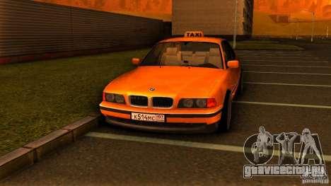 BMW 730i Taxi для GTA San Andreas вид справа
