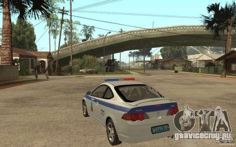 Acura RSX-S ДПС Barnaul City для GTA San Andreas вид сзади слева